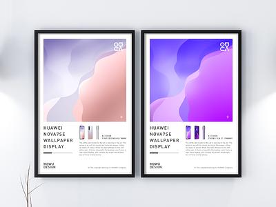 nova7se Wallpaper Design art 3d c4d illustration android logo feminine purple silver nova7se huawei phone ui icon ux