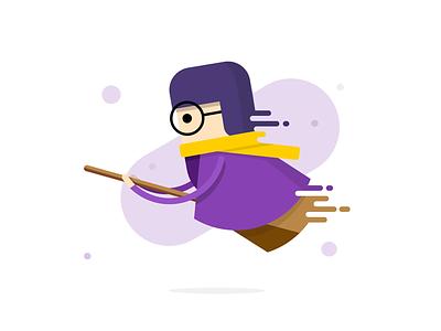 Harry Potter scarf school windbreaker broom glasses magical flight magic icon ux