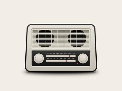 Radio FM ux ui music mowudesign fm radio icon