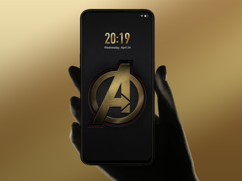 Avengers Mobile Phone Lock Screen Design lock screen illustration android phone logo ui icon ux avengers
