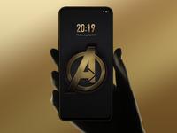 Avengers Mobile Phone Lock Screen Design