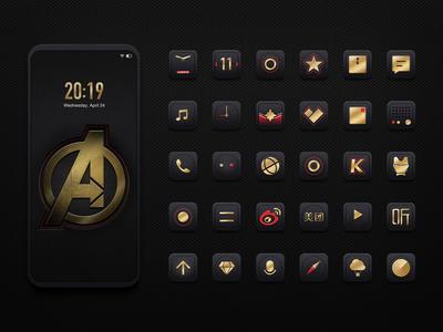Avengers Mobile Theme Design
