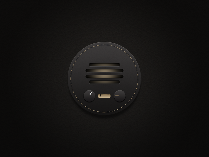 Retro radio business cortex fm phone black app ui icon ux