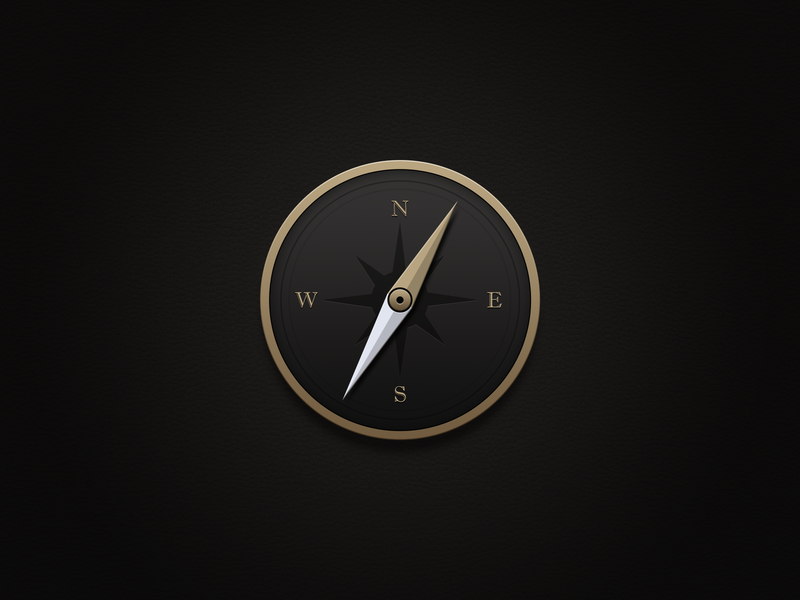 Compass icon business desktop gold circle android black app ui icon ux