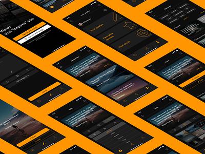 Quote App - Concept mockup fields modern design uikit mobile ui figma concept app ui design iphone apple product design ux minimal mobile app