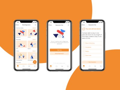 Mental Health App mobile app design medical app medical minimalism swiftui health care mobile ui ui mobile app ux illustration mental health app health ui ux design product design minimal mental health health app health