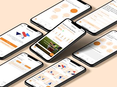Mental Health App health app concept app app figma minimal mental health illustraion mobile ui product design mobile app design healthcare dashboard