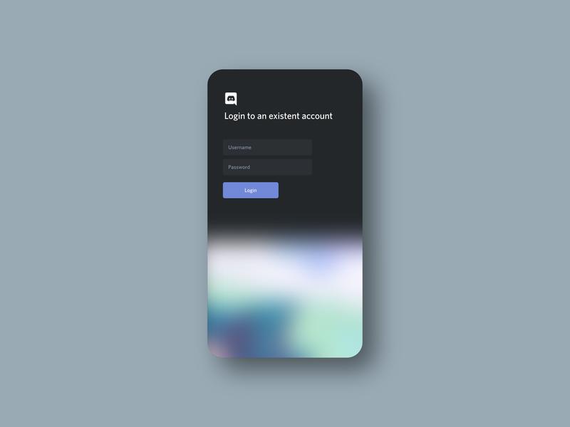 Discord mobile login concept concept design concept art login concept discord design ux app ui