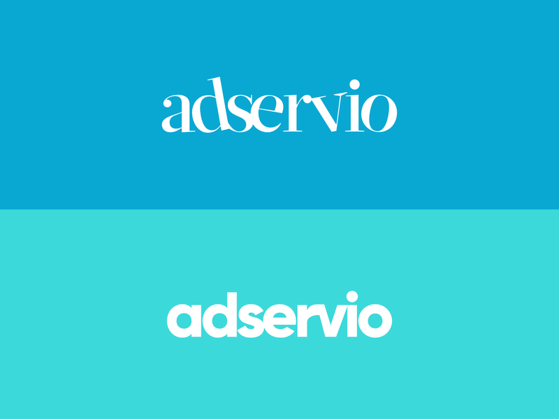 Adservio redesign concept vector flat typography logo branding concept art design concept design concept