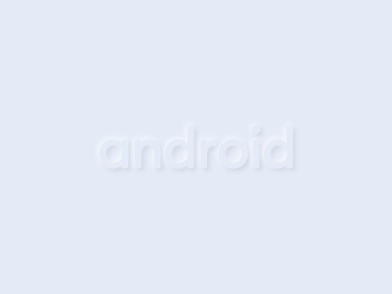 Android neumorphism logotype logotype smooth neumorph neumorphism neumorphic vector typography logo design