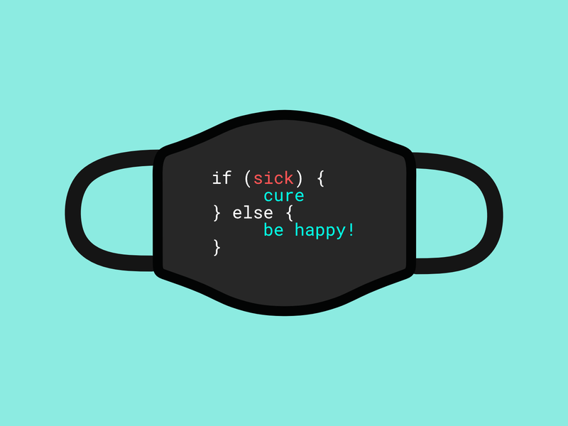 JavaScript mask java script javascript cure covid 19 covid-19 covid19 coronavirus covid mask typography vector illustration flat design