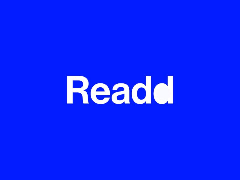 Readd logotype vector branding typography logo flat concept art concept design concept design