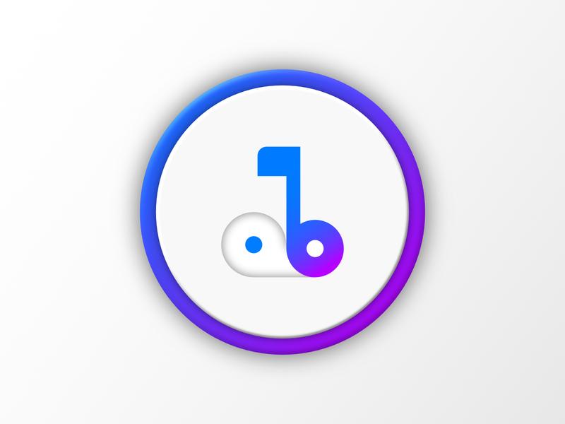 Abbey Music Player icon remake minimal app icon vector branding logo concept design concept design