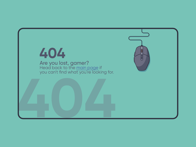 Gaming 404 page | #DailyUI web concept design concept design 404 gaming website gaming site ux ui illustration flat