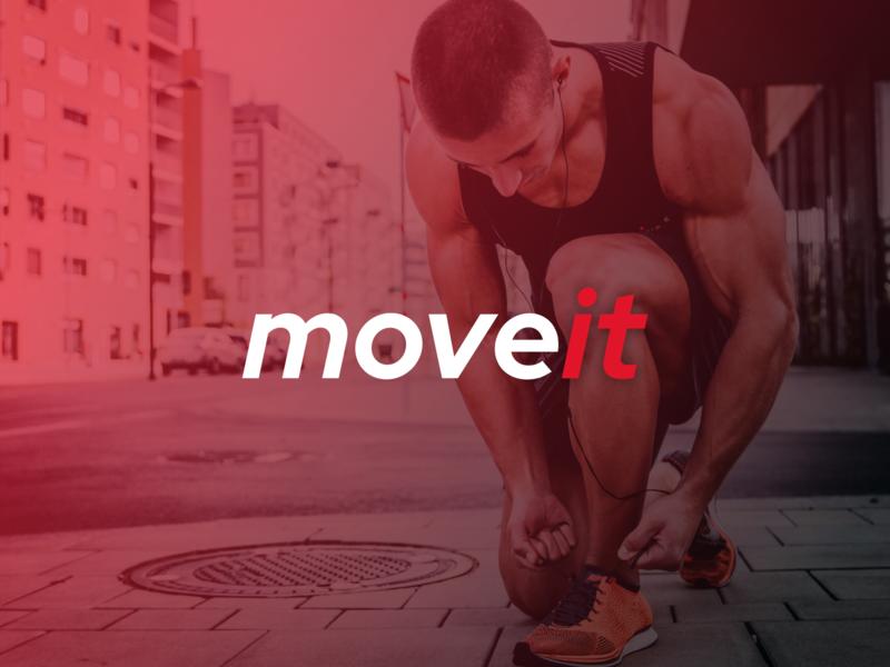 Moveit sport logotype vector branding typography logo flat concept design concept design