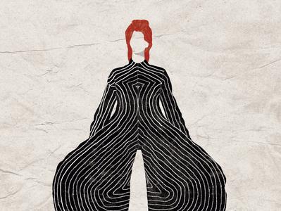 Bowie Vintage Poster vector illustration vector digital illustration digital art illustration