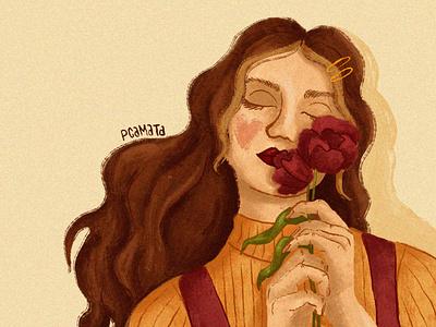 Rose Girl woman woman illustration ilustração digital pintura digital digital art ilustração digital painting digital artist character illustration digital illustration