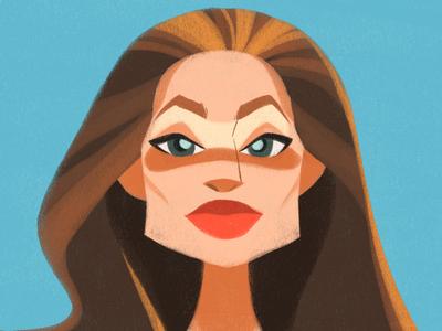 Angelina Jolie Avatar vector design illustrator illustration conceptart concept art character design characterdesign