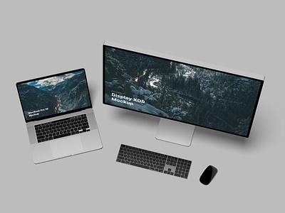 MacBook Pro 16 Mockup pro display macbook iphone clay apple download psd lstore mockup c4d 3d