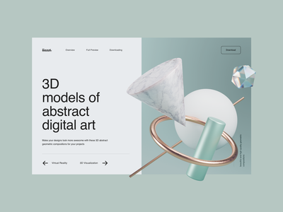 Abstract Geometric 3d Compositions 3d art abstract figma sketch illustraion free psd download mockup lstore 3d