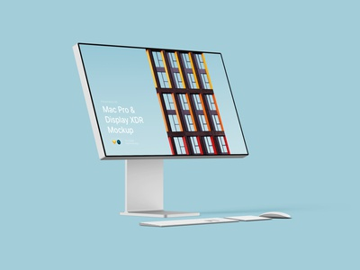 Mac Pro & XDR Display Mockups sketch psd photoshop mock-up macos x figma download desktop 3d lstore app macos clay mockup display ui mac pro mac apple