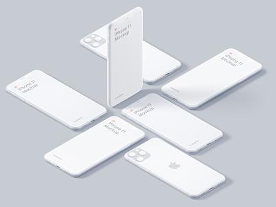 iPhone 11 Clay Scene premade scene iphone 11 sketch figma ui apple c4d 3d iphone clay lstore mockup