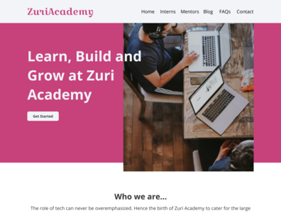 Zuri Internship ui ux web design