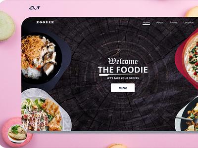 Foodie website app minimal web ux ui design