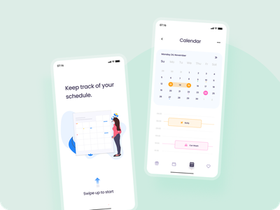 Calendar Concept  📆 mobileapp buttons schedule clean typography shadows uidesigns new calendar colors app flat ui uiux figma vector design concept trending dailyui