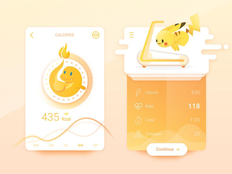 Pokemons Is Everywhere #04  rate fire ui go pokemon calorie fitness fit run pikachu charmander