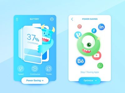 Monsters, Inc. Battery Charging App