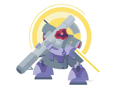 Gundam 0079_ Dom dom zeong zaku ui robot phone motion illustration icon gundam