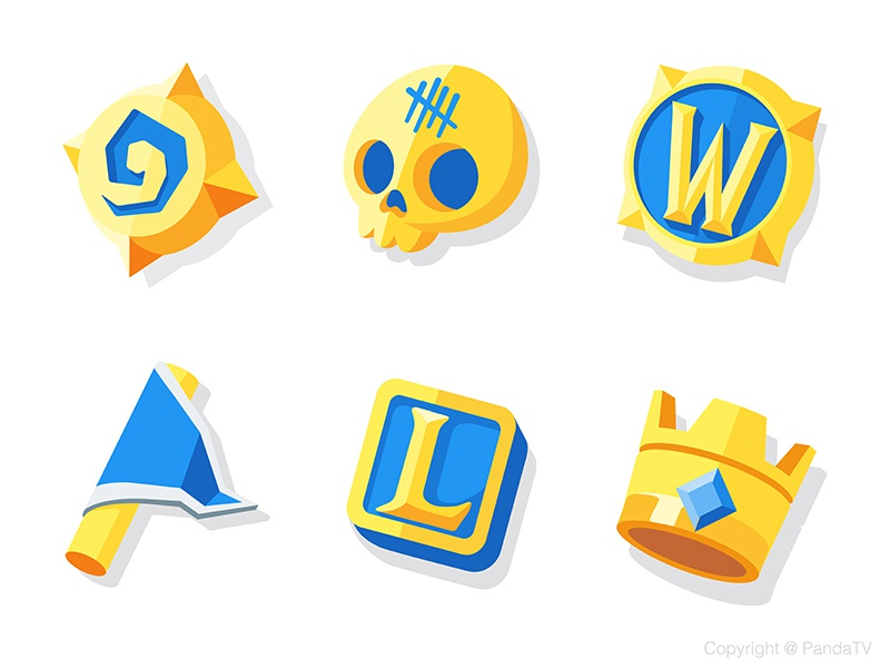 Game icons Part1 panda icon game clash of clans clash royale world of warcraft warcraft wow dead by daylight hearthstone