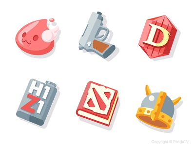 Game icons Part 2 panda icon game clash of clans clash royale world of warcraft warcraft wow diablo gun
