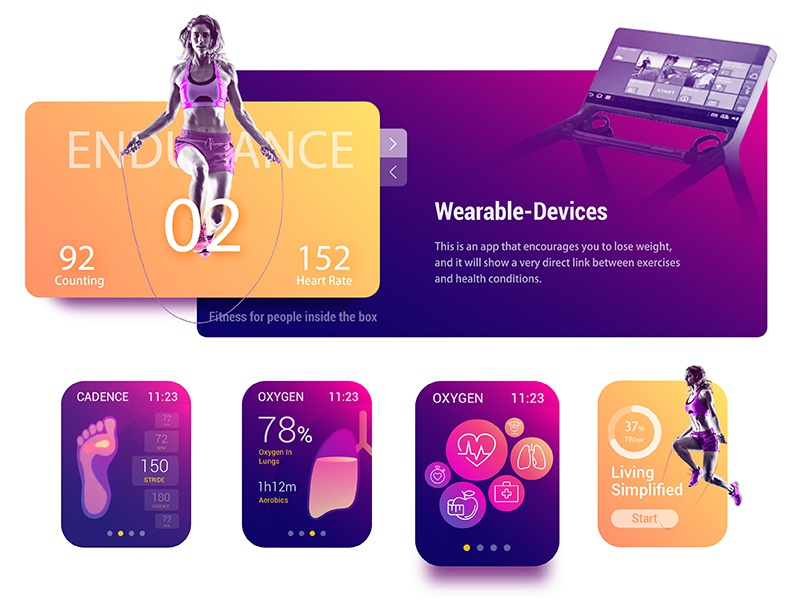 AR Fitness Coach for watch apple watch watch ui sport speed run overlay fitness calorie animation achievement
