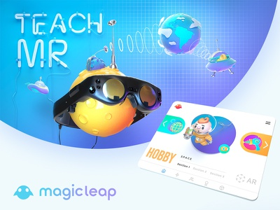 MR Child Education design ar motion app vr ui