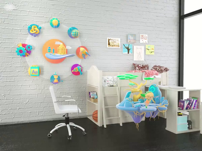 MR Child Education 3d motion ui app vr