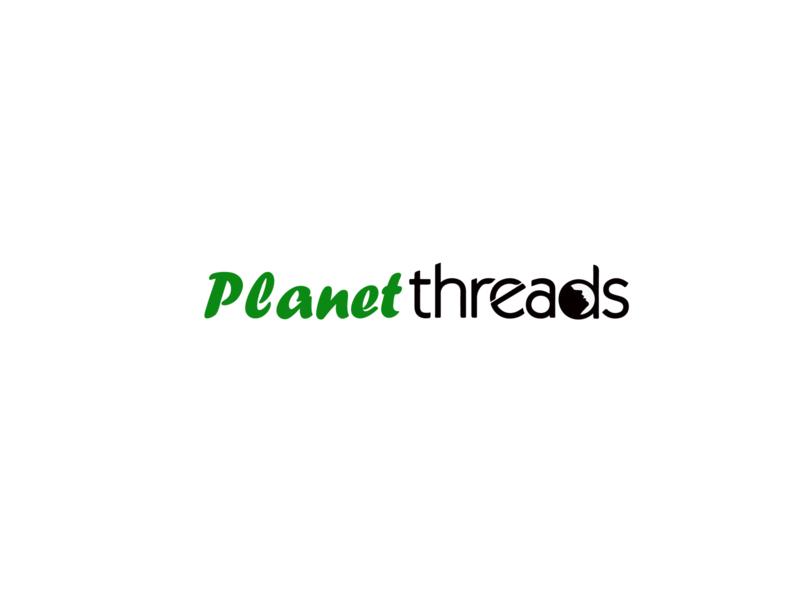 planet threads logo for a eco friendly company logo design planet logo eco logo