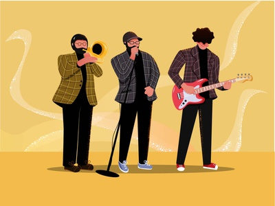 Music Band music player instrument bomranimusic bomrani music band guitar music shot illustration