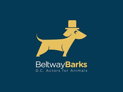 Beltwaybarks logo dog top hat animals d.c. actors