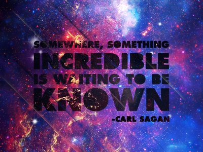 Somewhere carl sagan space stars nebula outer space astronomy