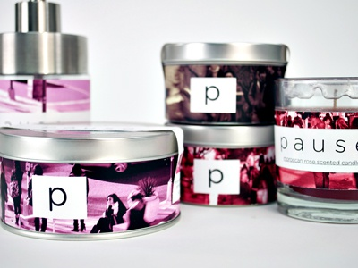 Pause candles bath scented