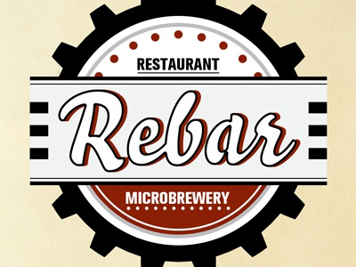 Rebar Logo restaurant micro brewery logo