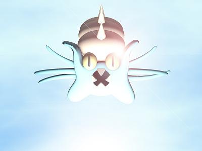 Twitch Plays Pokemon - Lord Helix pokemon omastar lord helix cinema 4d 3d render light white god