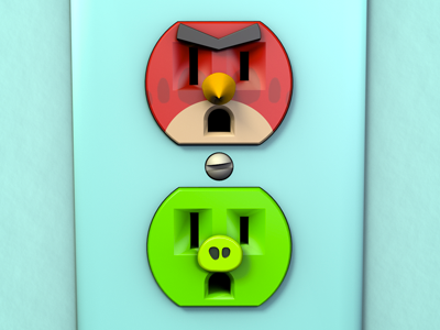 Unplugged Faces | Angry Birds 3d cinema 4d unplugged outlet angry birds render pop culture