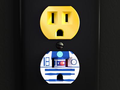 Unplugged Faces | Star Wars 3d cinema 4d unplugged outlet star wars r2d2 c3po render pop culture