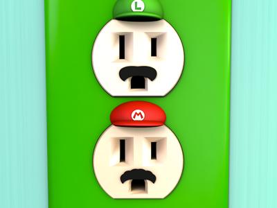 Unplugged Faces | Mario Bros 3d cinema 4d unplugged outlet mario luigi nintendo brothers bro render pop culture
