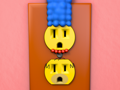Unplugged Faces | The Simpsons 3d cinema 4d unplugged outlet simpsons homer marge couch gag render pop culture