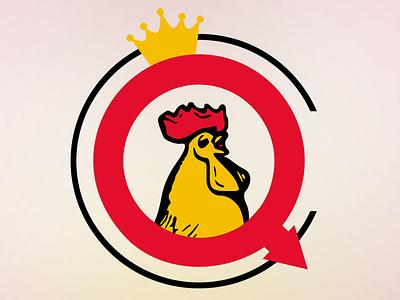 Chicken Queen logo fake food fast logo queen chicken