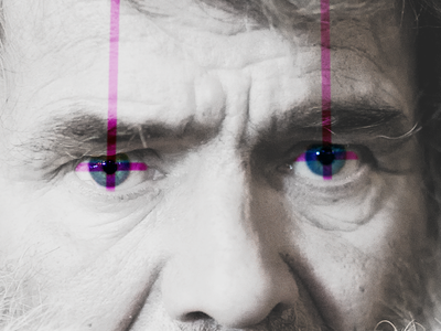 Poison Eyes eyes blue crosses pink lines
